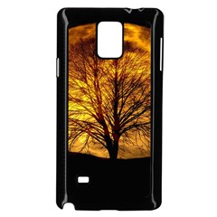 Moon Tree Kahl Silhouette Samsung Galaxy Note 4 Case (Black)