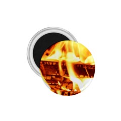 Fire Flame Wood Fire Brand 1.75  Magnets