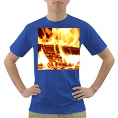 Fire Flame Wood Fire Brand Dark T-Shirt