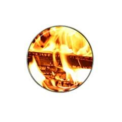 Fire Flame Wood Fire Brand Hat Clip Ball Marker