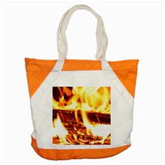 Fire Flame Wood Fire Brand Accent Tote Bag