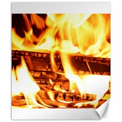 Fire Flame Wood Fire Brand Canvas 8  x 10