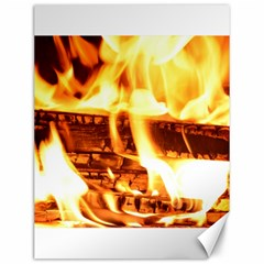 Fire Flame Wood Fire Brand Canvas 12  x 16