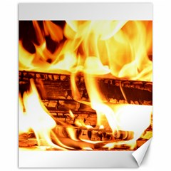 Fire Flame Wood Fire Brand Canvas 11  x 14
