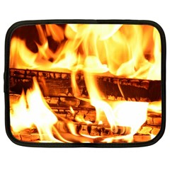 Fire Flame Wood Fire Brand Netbook Case (Large)