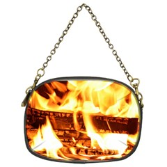 Fire Flame Wood Fire Brand Chain Purses (Two Sides)