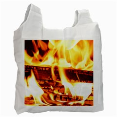 Fire Flame Wood Fire Brand Recycle Bag (One Side)