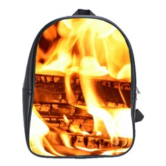 Fire Flame Wood Fire Brand School Bags(Large)