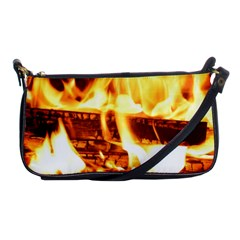 Fire Flame Wood Fire Brand Shoulder Clutch Bags
