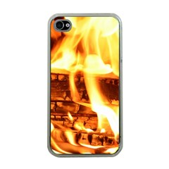 Fire Flame Wood Fire Brand Apple iPhone 4 Case (Clear)