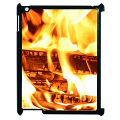 Fire Flame Wood Fire Brand Apple iPad 2 Case (Black)