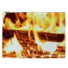 Fire Flame Wood Fire Brand Cosmetic Bag (xxl)