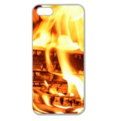 Fire Flame Wood Fire Brand Apple Seamless Iphone 5 Case (clear)