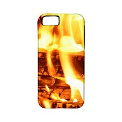 Fire Flame Wood Fire Brand Apple Iphone 5 Classic Hardshell Case (pc+silicone)