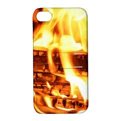 Fire Flame Wood Fire Brand Apple iPhone 4/4S Hardshell Case with Stand