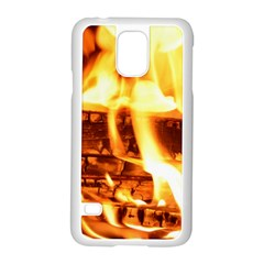 Fire Flame Wood Fire Brand Samsung Galaxy S5 Case (white)