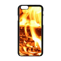 Fire Flame Wood Fire Brand Apple iPhone 6/6S Black Enamel Case