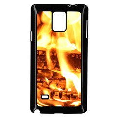 Fire Flame Wood Fire Brand Samsung Galaxy Note 4 Case (Black)