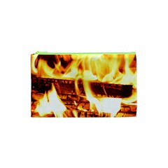 Fire Flame Wood Fire Brand Cosmetic Bag (xs)