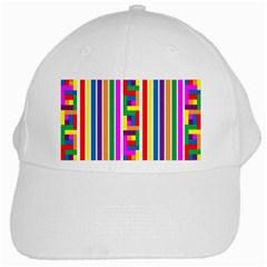 Rainbow Geometric Design Spectrum White Cap