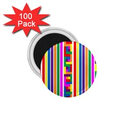 Rainbow Geometric Design Spectrum 1.75  Magnets (100 pack)