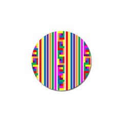 Rainbow Geometric Design Spectrum Golf Ball Marker (4 Pack)