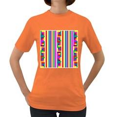 Rainbow Geometric Design Spectrum Women s Dark T-Shirt