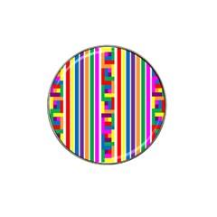 Rainbow Geometric Design Spectrum Hat Clip Ball Marker