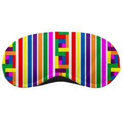 Rainbow Geometric Design Spectrum Sleeping Masks