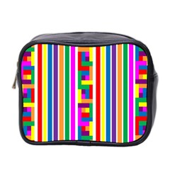 Rainbow Geometric Design Spectrum Mini Toiletries Bag 2-Side