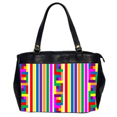Rainbow Geometric Design Spectrum Office Handbags (2 Sides)
