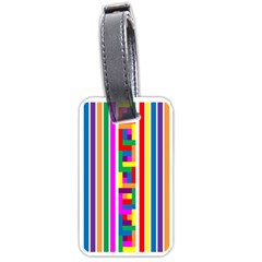 Rainbow Geometric Design Spectrum Luggage Tags (One Side)