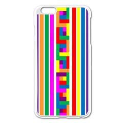 Rainbow Geometric Design Spectrum Apple iPhone 6 Plus/6S Plus Enamel White Case