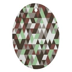 Pattern Triangles Random Seamless Ornament (Oval)