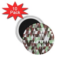 Pattern Triangles Random Seamless 1.75  Magnets (10 pack)