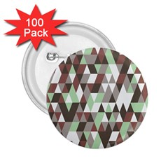 Pattern Triangles Random Seamless 2.25  Buttons (100 pack)