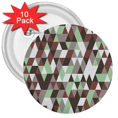 Pattern Triangles Random Seamless 3  Buttons (10 pack)
