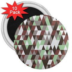 Pattern Triangles Random Seamless 3  Magnets (10 pack)