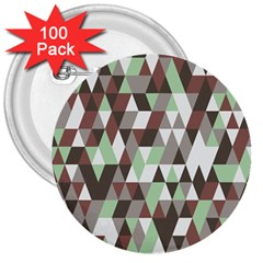 Pattern Triangles Random Seamless 3  Buttons (100 pack)