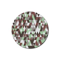 Pattern Triangles Random Seamless Rubber Round Coaster (4 pack)