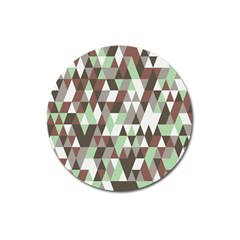 Pattern Triangles Random Seamless Magnet 3  (Round)
