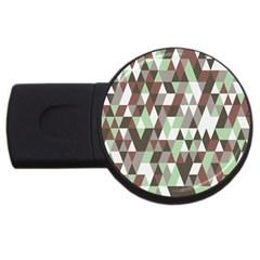 Pattern Triangles Random Seamless USB Flash Drive Round (4 GB)