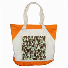 Pattern Triangles Random Seamless Accent Tote Bag