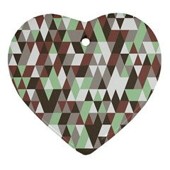 Pattern Triangles Random Seamless Heart Ornament (Two Sides)