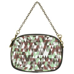 Pattern Triangles Random Seamless Chain Purses (one Side)