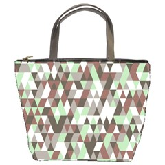 Pattern Triangles Random Seamless Bucket Bags