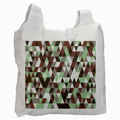 Pattern Triangles Random Seamless Recycle Bag (One Side)