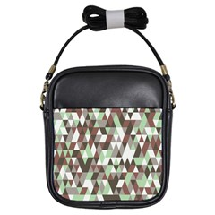 Pattern Triangles Random Seamless Girls Sling Bags