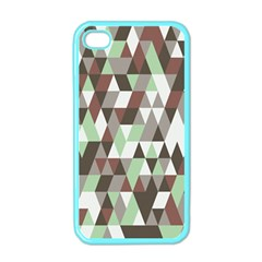 Pattern Triangles Random Seamless Apple iPhone 4 Case (Color)