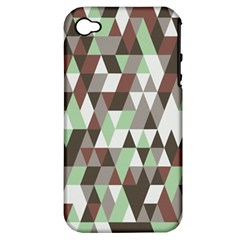 Pattern Triangles Random Seamless Apple iPhone 4/4S Hardshell Case (PC+Silicone)
